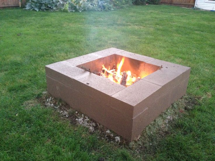 7 awesome cinder block fire pit ideas for How to build a fire pit with concrete blocks