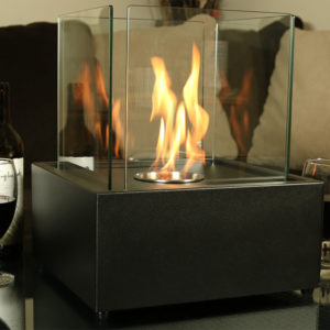 Sunnydaze Cubic Ventless Bio-Ethanol Tabletop Fireplace