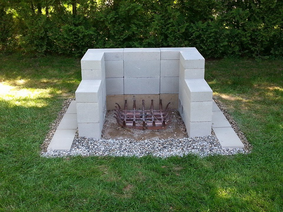 outdoor cinder block fire pit - Firepit Ideas