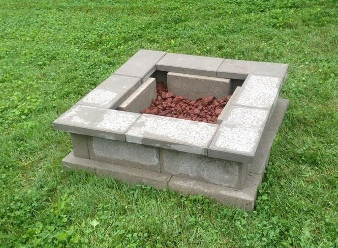 Lowe S Fire Clay Mortar : Awesome cinder block fire pit ideas