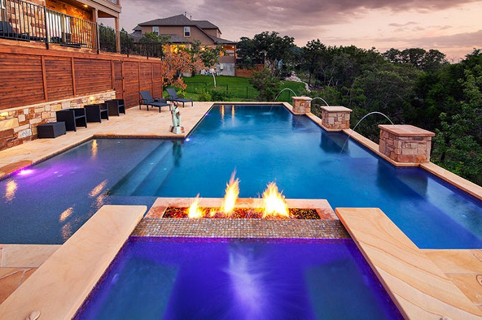 Getting a fire pit to put by your pool - Pool fire bowls ...