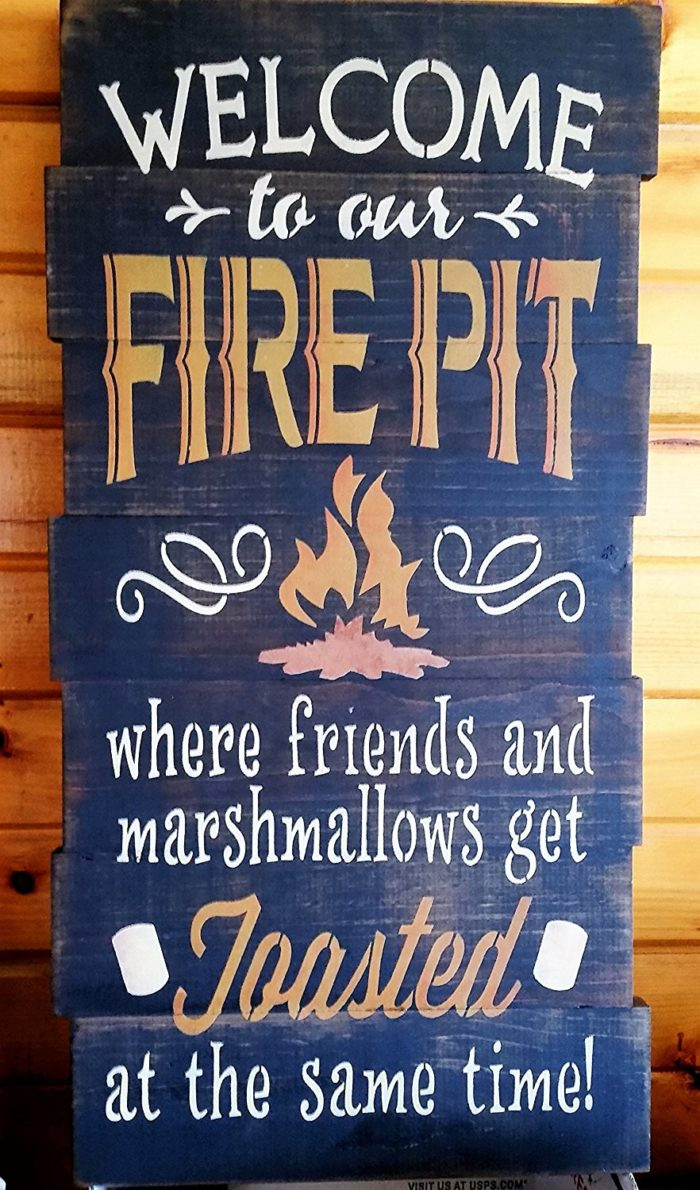 Outdoor Fire Pit Sign - Amazing Wood/Metal Fire Pit Signs For Your Deck Or Patio